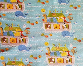 Noah's Ark Flannel Fabric Sold by the Yard