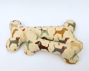 Watercolour Dogs Squeaky Dog Bone