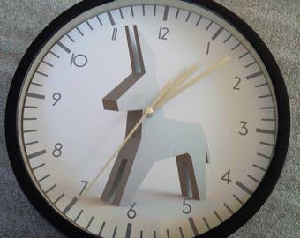 clock wall pattern donkey silver design