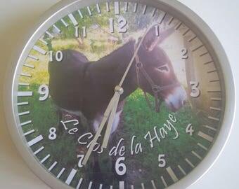 wall clock donkey animal pattern