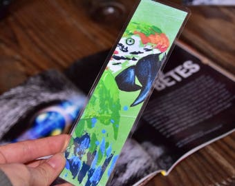 Limited EDITION print of a parrot bookmark