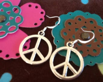 Peace Sign Hippie earrings Women's earrings