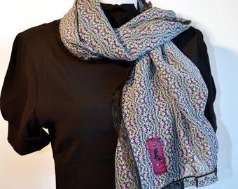 scarf blue, pink, camaieux