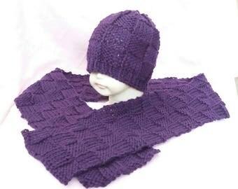Hat and scarf set, toddler winter set, girls scarf, toddler winter hat, mummy and me, toddler gift set,