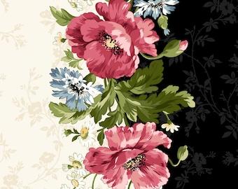 Poppies Pinks Stripe by Maywood Studio