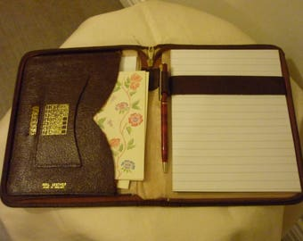 Vintage Brown Leather Writing Stationery Wallet. Tablet case. ipad Case. Kindle case. Nexus Case