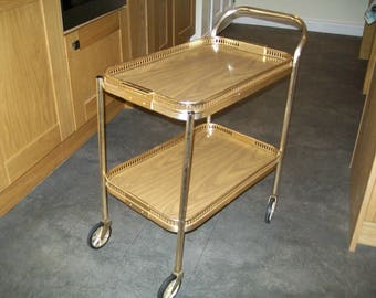 1960u0027s bar car rolling drinks trolley two tiers mid century tea trolley hostess