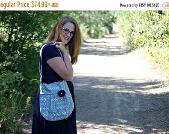 CHRISTMAS SALE Conceal Carry Purse-- Grey Arrow Small Cross Body CCW Handbag, Conceal and Carry, Concealed Carry Purse, Conceal Carry Purse,