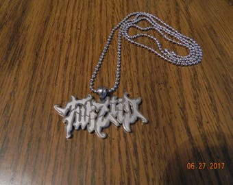 MIP- ICP Twiztid embossed Polished Stainless Steel pendant w/30 inch ball chain