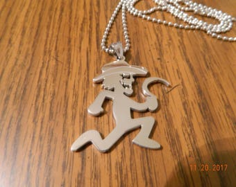 ICP HATCHETMAN BOONDOX Scarecrow Polished Stainless Steel pendant w/30inch ball chain