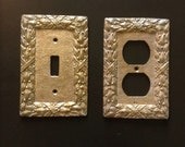 Vintage Brass Switch Plate and Outlet Cover Set