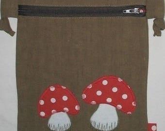Small bag 'mushrooms' - Brown