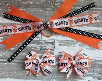 San Francisco Giants Bow - San Francisco Giants Headband - San Francisco Giants Hair Bow - San Francisco Giants Baseball