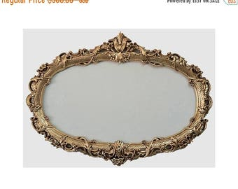 ON SALE Shabby Chic Oval Mirror Frame - Baroque Mirror - Ornate Wall Frames - Wedding Gift