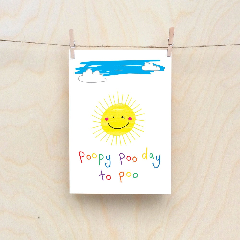 Poopy sun card rude kids cards silly childrens cards toddler poopy sun card rude kids cards silly childrens cards toddler rude words card kids birthday card funny kids card funny birthday card kristyandbryce Image collections