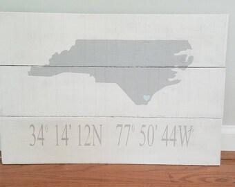 North Carolina Coordinates