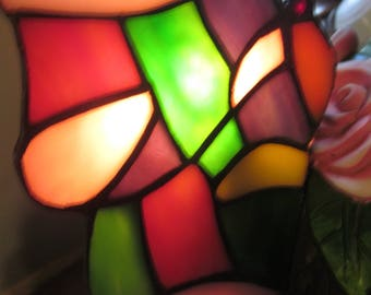 Stained Glass Lamp - Butterfly Lamp - Night Light -