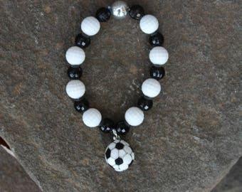Semi-Annual SALE Gender Neutral Soccer Bracelet - JTJ15802