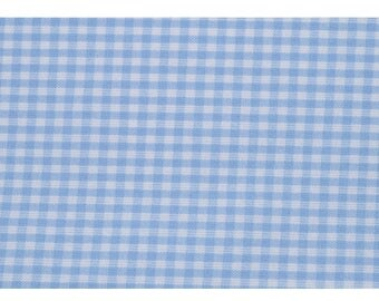 """""""Greed gingham blue"""" 100% cotton fabric"""