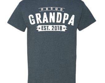 New Grandpa Shirt Grandpa TShirt Papa Shirt Funny Grandpa Shirt Best Grandpa Gifts  Best Gifts To Grandparents Birth Announcement 5000