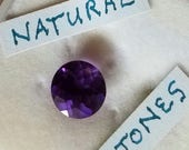 Sale 3.5 carats of beautiful natural untreated amethyst, faceted in a 10 mm round cut.  Will make an outstanding ring or pendant.