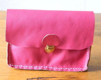 Pink pouch with loop for belt