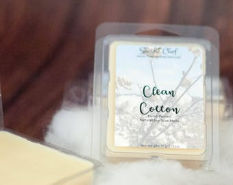 Clean Cotton Wax Melts - Cotton Wax Tart - Soy Wax Melt - Candle - Wickless Candle - Candle Warmer - Christmas Candle - Holiday Wax