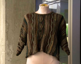 Vintage Cropped Bachrach Sweater