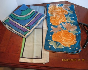 Vintage Lot of Vera scarves (3)