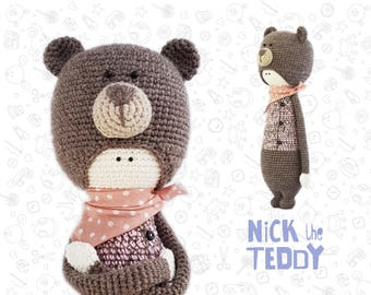 Teddy amigurumi crochet pattern toy crochet pattern animal pattern