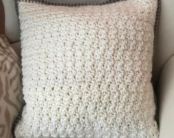 Throw Pillow Crocheted-1