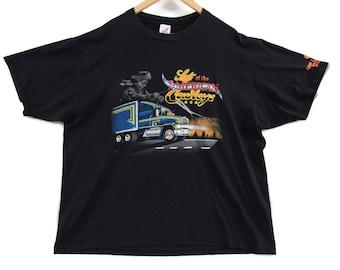 VTG 1990 Trucker T-Shirt - XXL - 76 Truck Stop Shirt - Tourist Tee - Cowboy Shirt - Jerzees - Vintage Tee - Vintage Clothing -