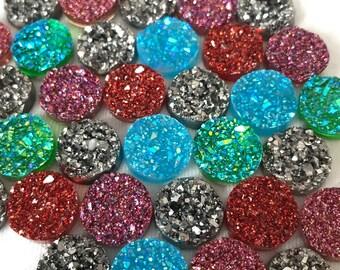 Druzy Round Glitter Magnet