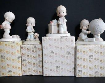 Vintage Precious Moments Figurine-CHOICE-What's Inside, E-3119, God Understands,E-1379/B,Love Never Fails,12300, Jesus Answer,E-1381,Teacher