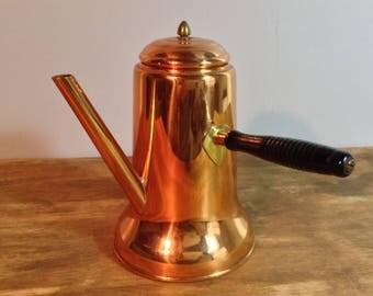 Vintage Turkish Style Copper Tea Pot / Coppercraft Guild / Copperware Tea Pot / 1970's