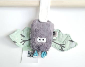"""Bat plush mouse lucky """"green"""" - unique and original blanket"""