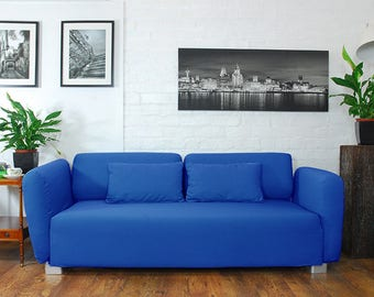 Slip cover to fit the ikea Mysinge 2 seat sofa ROYAL BLUE