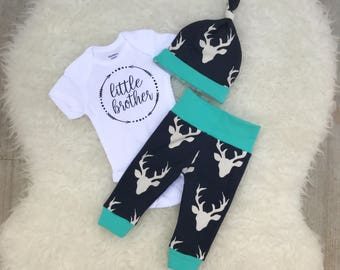 Buck Navy & Mint Little Brother Set