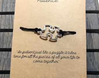 Patience Puzzle piece Wish Bracelet
