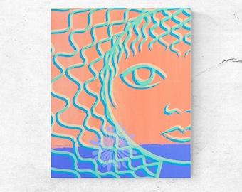 Print on canvas modern minimal art abstract home decor art contemporary canvas wall art feminine portrait to decorate home head of women