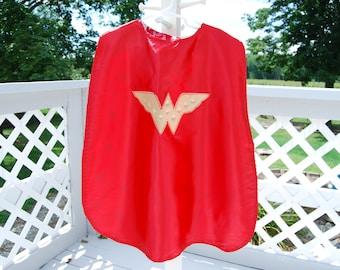 Wonder Woman kids reversible cape