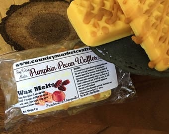 Pumpkin Pecan Waffles Wax Brittle Fall Wax Gift Box Handmade Soy Vegan Wax Tarts - Stocking Stuffer Wax Melts