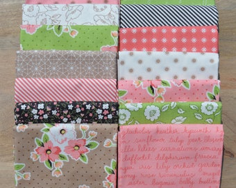 Olive's Flower Market - Fat Quarter Bundle - Lella Boutique - Moda - 15 Fat Quarters - 100% Cotton
