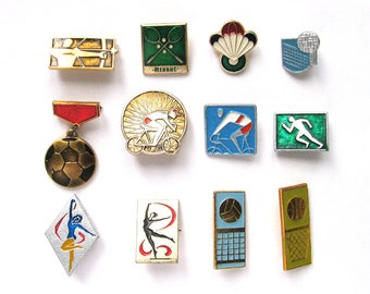 Sports, Soviet Badge, Kinds of sport, Summer, Pick from Set, Volleyball, Pin, Vintage metal collectible pins, Soviet Union, Made in USSR