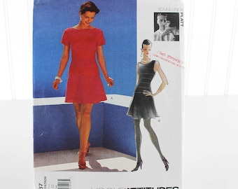 Vogue Attitudes Dress Sewing Pattern, Uncut Sewing Pattern, Vogue V1587, Size 8-12