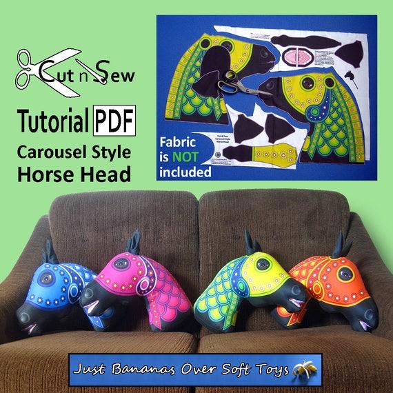 Cut N Sew Horse Head Cushion Pillow Sewing Tutorial