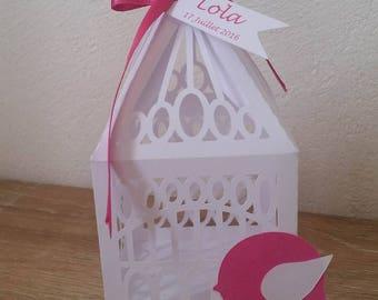 Wedding Bird Cage christening candle box