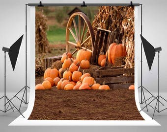 Happy Halloween Fall Pumpkin Harvest Photography Backdrops No Wrinkles Newborn Baby Photo Backgrounds for Children Studio Props