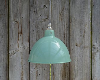 Vintage green grey industrial small hanging light pendant ceiling lamp shade BL2SR4