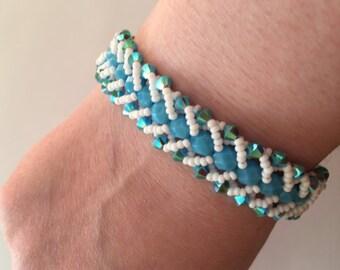 Stunning Swarovski Bracelet and seed beads